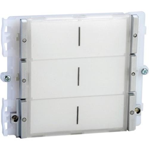 Comelit IKALL Door Station Button Module for Door Entry Panel, Intercom System - Door, Indoor, Outdoor - Weather Proof - Metal - Blue, White, Light Blue