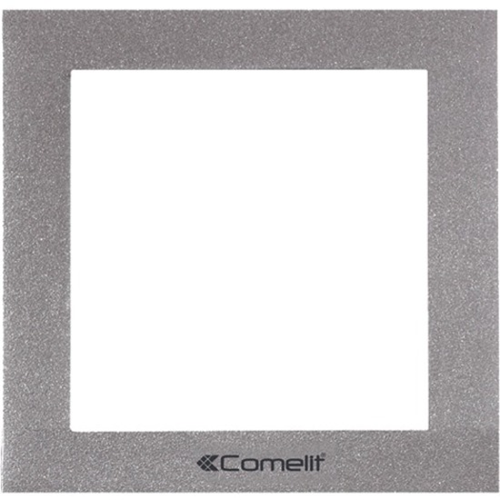 Comelit IKALL Faceplate - Die-cast Aluminum - Silver
