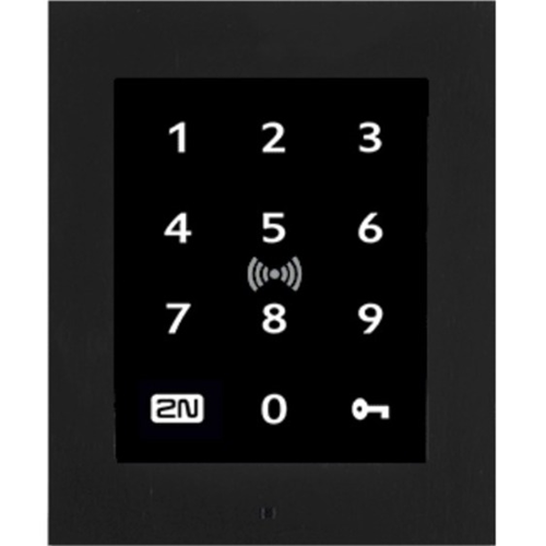2N Card Reader/Keypad Access Device - Black - Door - Proximity, Key Code - Fast Ethernet - Network (RJ-45) - 12 V DC - Wall Mountable, Flush Mount, Surface Mount