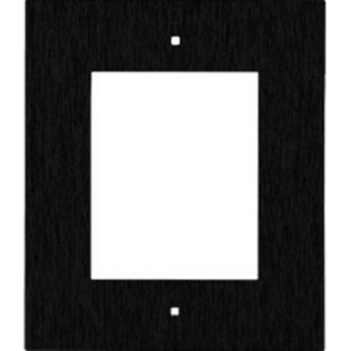 2N Faceplate - Brushed Steel - Black - Wall Mount, Flush Mount