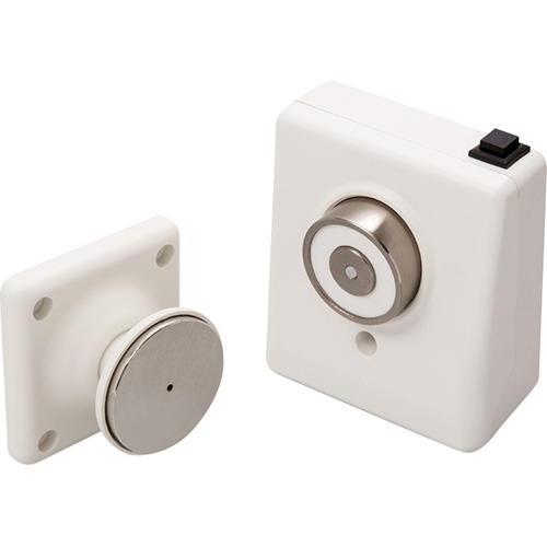 Cranford Controls Wall Doorstop - Wall Mounted - Release Button, Flame Retardant - ABS Plastic - Conquest White