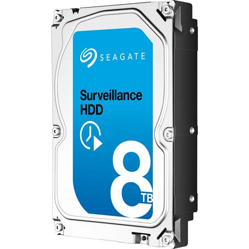 "Seagate SkyHawk ST8000VX004 8 TB Hard Drive - 3.5"" Internal - SATA (SATA/600) - Video Surveillance System, Network Video Recorder Device Supported - 256 MB Buffer"