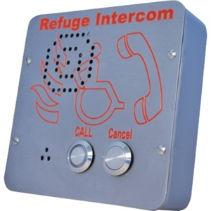Cooper VoCALL Refuge Call Center - Surface-mountable for Area of Refuge, Call Point, Fire Alarm Control Panel, Tactile Braille Signage