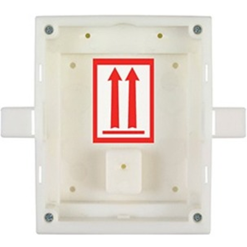 2N Mounting Box - Plastic - White - Flush Mount