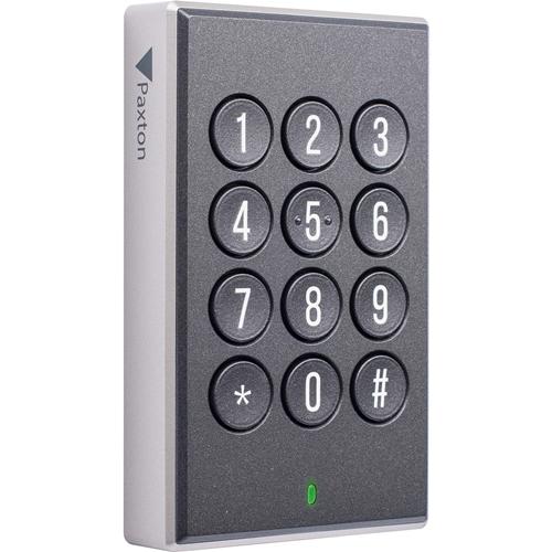Paxton Access Paxton10 Biometric/Keypad Access Device - Black - Door - Proximity, Key Code - Bluetooth - 12 V DC - Surface Mount