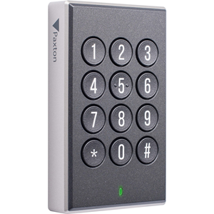 Paxton Access Paxton10 Biometric/Keypad Access Device - Black - Door - Proximity, Key Code - Bluetooth - 12 V DC - Surface Mount