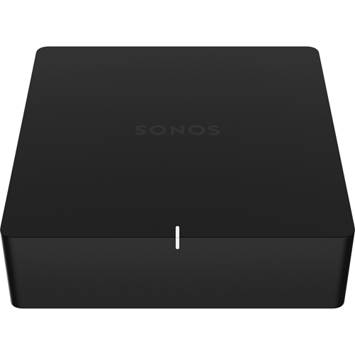 SONOS Port Network Audio/Video Player - Wireless LAN - Matte Black - YouTube - Internet Streaming - Ethernet
