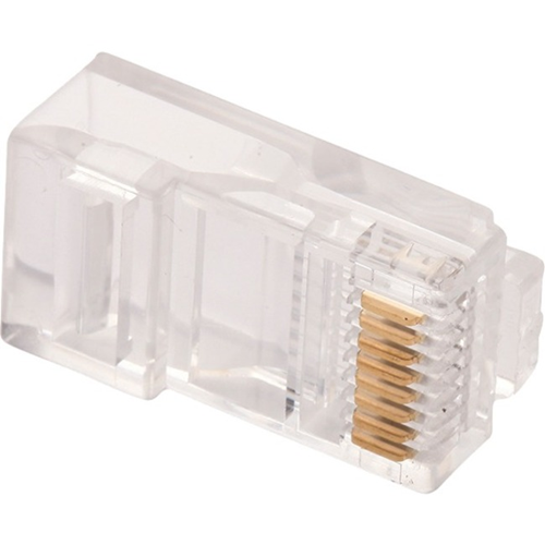 W Box Gold Plated Network Connector - 10 Pack - 1 x RJ-45 Male Network