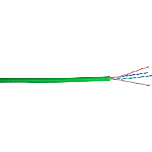 Connectix 305 m Category 5e Network Cable - Bare Wire - Green