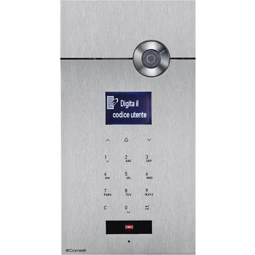 "Comelit 7.6 cm (3"") Video Door Phone Sub Station - LCD - CMOS - 83° Horizontal - 67° Vertical - Stainless Steel - Door Entry"