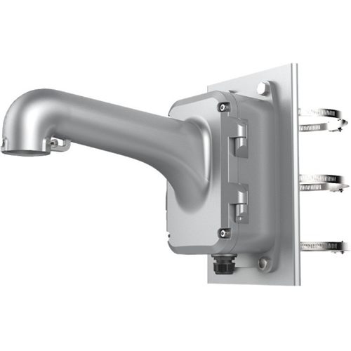 Hikvision DS-1604ZJ-BOX-POLE-P Pole Mount for Security Camera Dome - Platinum Grey - 10 kg Load Capacity