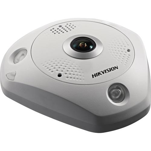 Hikvision DeepinView DS-2CD6365G0-IVS 6 Megapixel Network Camera - Fisheye - 15 m Night Vision - H.264+, H.264, MJPEG, H.265, H.265+ - 3072 x 2048 - CMOS - Pendant Mount, Junction Box Mount, Corner Mount, Wall Mount, Ceiling Mount, Pole Mount
