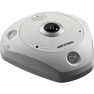 Hikvision DeepinView DS-2CD6365G0-IVS 6 Megapixel Network Camera - Fisheye - 15 m Night Vision - H.264+, H.264, MJPEG, H.265, H.265+ - 3072 x 2048 - CMOS - Pendant Mount, Junction Box Mount, Corner Mount, Wall Mount, Ceiling Mount, Pole Mount