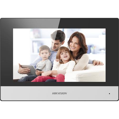 """Hikvision DS-KH6320-WTE1 17.8 cm (7"""") Video Door Phone - Touchscreen TFT LCD - Plastic - Indoor"""