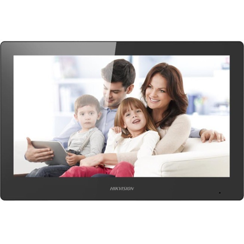 "Hikvision DS-KH8520-WTE1 25.4 cm (10"") Video Door Phone - Touchscreen TFT LCD - Polycarbonate, ABS Plastic - Indoor, Apartment"