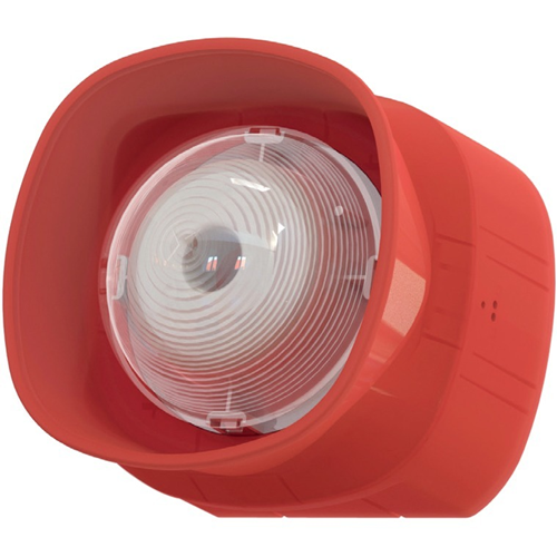 Eaton BiWire Ultra Security Alarm - Wired - 35 V DC - 99 dB(A) - Audible, Visual - Wall Mountable - Red, Clear
