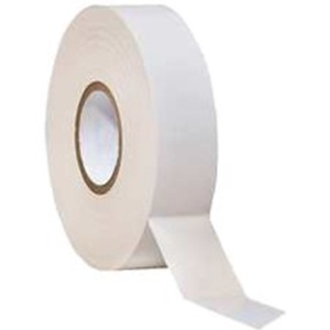 W Box Insulating Tape - 20 m Length x 19 mm Width - Flame Retardant - 1 Piece - White