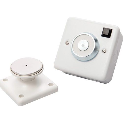 Cranford Controls Electromagnetic Door Holder - Wall Mounted - Flame Retardant, Low Profile Design, Spring Ejector - Plastic