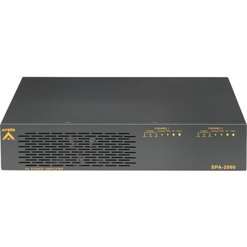 Penton SPA2060 Amplifier - 120 W RMS - 2 Channel - Grey - 40 Hz to 20 kHz
