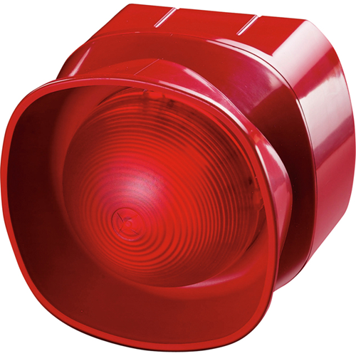 Apollo Light Indicator/Sounder - Wired - 28 V DC - 100 dB(A) - Audible, Visual - Surface Mount - Red