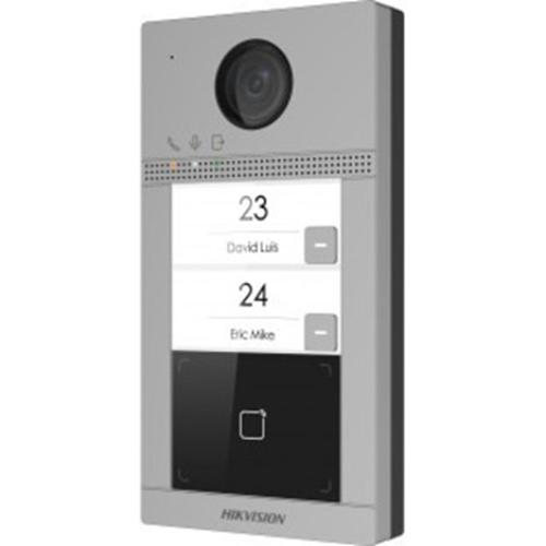 Hikvision Video Door Phone Sub Station - 2 Megapixel129° Horizontal - 75° Vertical - Full-duplex - Door Entry, Outdoor