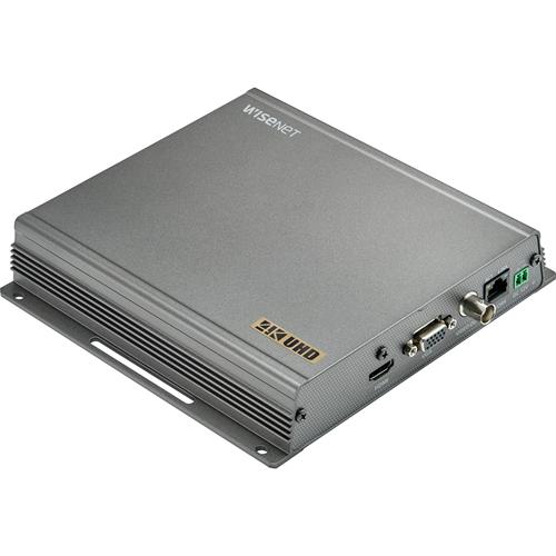 Wisenet SPD-151 Video Decoder - External - Functions: Video Decoding, Video Streaming - 3840 x 2160 - H.265, H.264, MJPEG - HDMI - Component Video - VGA - Composite VideoNetwork (RJ-45) - USB - Linux