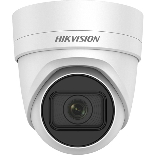 Hikvision EasyIP DS-2CD2H45FWD-IZS 4 Megapixel Network Camera - Turret - 30 m Night Vision - H.264+, H.264, H.265, MJPEG, H.265+ - 2688 x 1520 - 4.2x Optical - CMOS - Wall Mount, Pendant Mount, Ceiling Mount, Pole Mount, Corner Mount