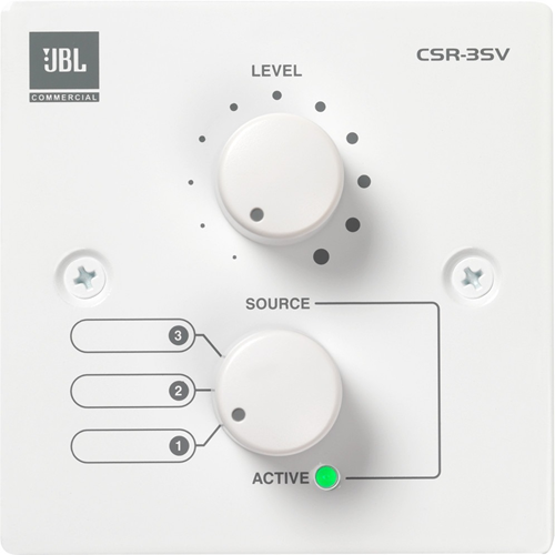 JBL Commercial CSR-3SV (EU-WHT) Audio Control Device - Wired