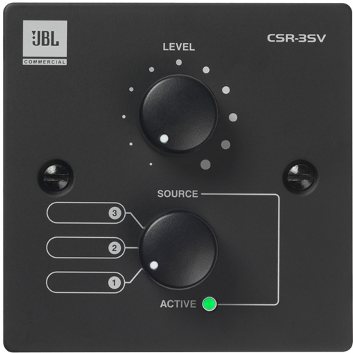 JBL Commercial CSR-3SV (EU-BLK) Audio Control Device - Wired