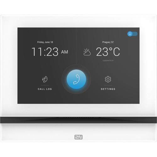 2N Intercom Sub Station - White - Cable - Desktop, Flush Mount