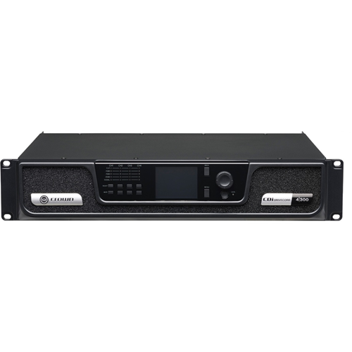 Crown CDi DriveCore 4|300 Amplifier - 1200 W RMS - 4 Channel - 0.4% THD - 20 Hz to 20 kHz - 350 W - Ethernet
