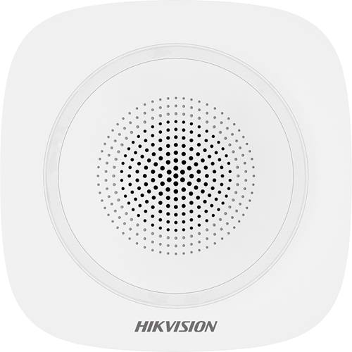 Hikvision DS-PS1-I-WE Security Alarm - Blue - Wireless - 110 dB - Visual, Audible - Wall Mountable - White