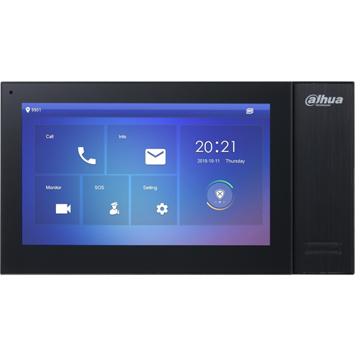 """Dahua DHI-VTH2421FB-P 17.8 cm (7"""") Video Master Station - Touchscreen TFT LCD - ABS Plastic, Polycarbonate"""