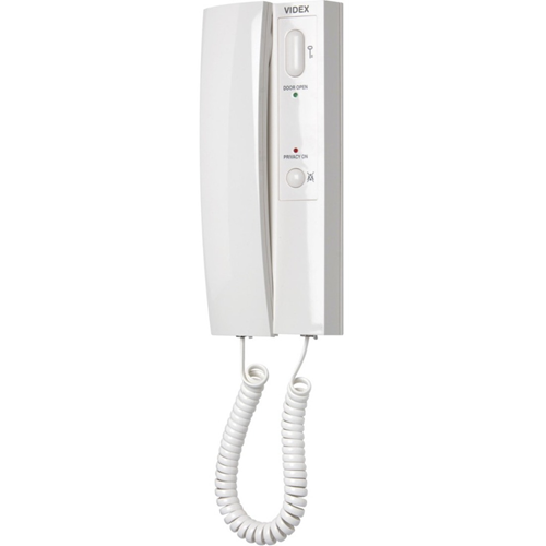 VIDEX 3176 Intercom Sub Station - for Door Entry - White - Cable - Desktop