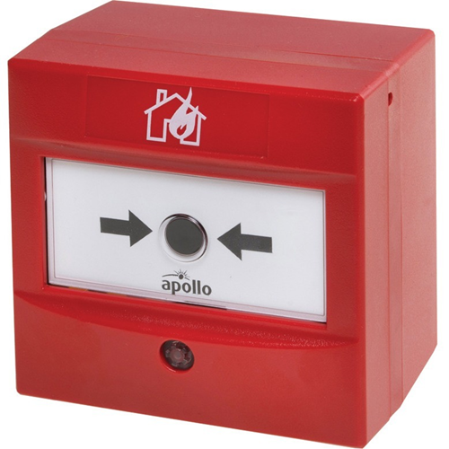Apollo Single Action Manual Call Point For Fire Alarm - Red - Polycarbonate
