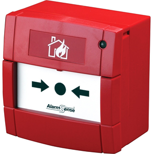 AlarmSense Manual Call Point For Fire Alarm - Red - Polycarbonate