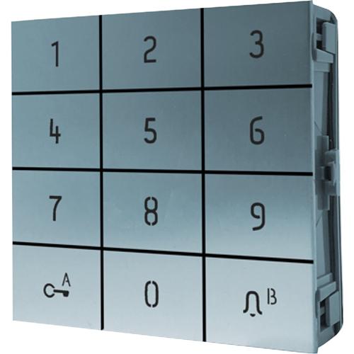 Comelit Intercom System Keypad Module for Entrance Panel, Intercom System - Access Control, Door, Villa, Residential, Intercom - Anodized Aluminium, Aluminium Alloy - Aluminium, White, Off White