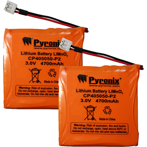 Pyronix Battery - Lithium (Li) - 2Pack - For Sounder, Intruder Detection System - Battery Rechargeable - 3 V - 5000 mAh