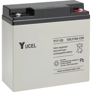 Yuasa Yucel Battery - Lead Acid - For UPS, Alarm System, Emergency Lighting, Torch, Electrical System - Battery Rechargeable - 12 V - 17000 mAh