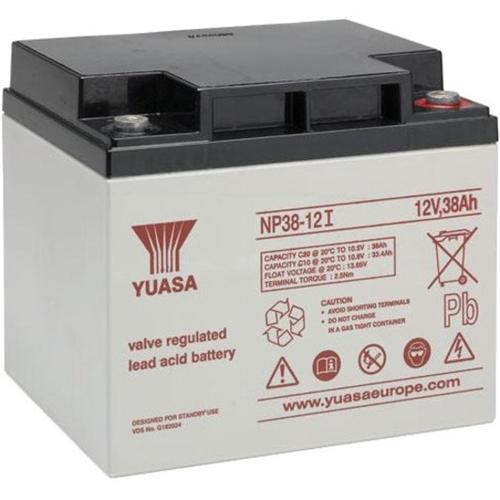 Yuasa NP38-12 Battery - Lead Acid - For Multipurpose - Battery Rechargeable - 12 V DC - 38000 mAh