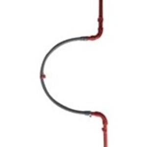 Xtralis PIP-021 Pipe - Red - 1 m - Acrylonitrile Butadiene Styrene (ABS)