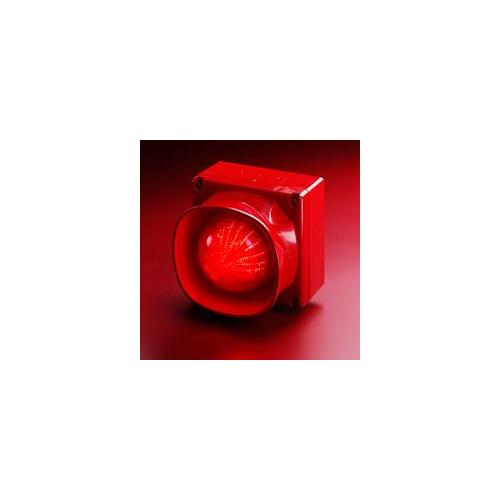 Apollo Horn/Strobe - 28 V DC - Audible, Visual - Wall Mountable - Red