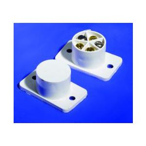 Knight Fire & Security A40 Cable Magnetic Contact - 14 mm Gap - Flush Mount - White