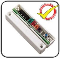 CQR SC517 Cable Magnetic Contact - SPST (N.O.) - 15 mm Gap - For Double Door - Surface Mount - White