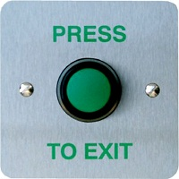 3E 3E0656-1RTE BUTTON RAISED GREEN EXIT BTN