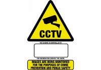 Haydon HAY-WSA5 STICKERSTORAGE MISC A5 CCTV Warn Sign Sticker