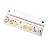 CQR SC517 Cable Magnetic Contact - SPST (N.C.) - 15 mm Gap - For Double Door - Surface Mount - White