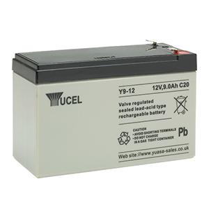 Yuasa Yucel UPS Backup, Emergency Lighting, Toy, Torch, Electrical Equipment Battery - 9000 mAh - Sealed Lead Acid (SLA) - 12 V DC - Battery Rechargeable