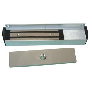 Magnetic Solutions MS15 Magnetic Lock - 300 kg Holding Force - Satin Anodized Aluminum - Monitored